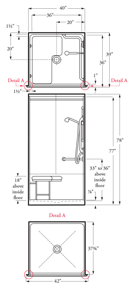 Barrier Free Bathroom Floor Plans