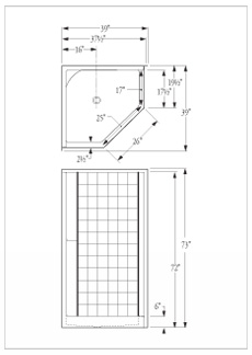 Florestone Model 38 Neo Fiberglass Shower