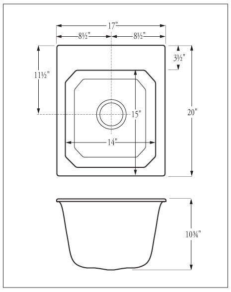 Florestone Model SR17 Utility Sink