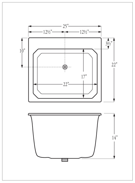Florestone Model SR Self Rimming Utility Sink