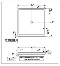 Florestone Model 4040f Bf Barrier Free Molded Fiberglass