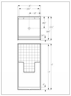 shower stall schematic florestone model 36 3w fiberglass shower  florestone model 36 3w fiberglass shower