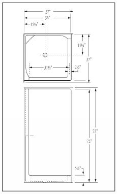 shower stall schematic florestone model 36 corner fiberglass shower  florestone model 36 corner fiberglass