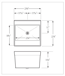 Inside Tray Dimensions 17 1 4 X 22frac18 Click For Large View